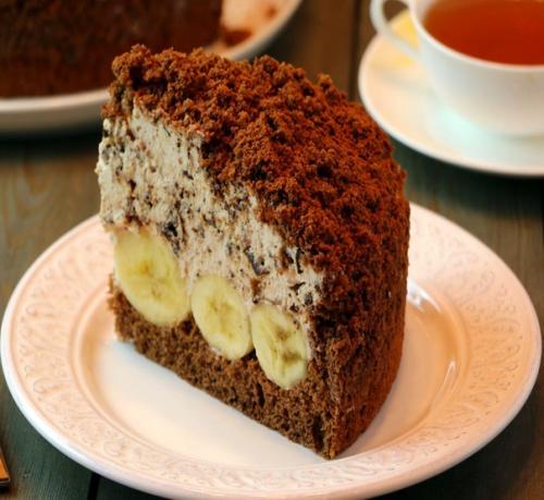 Простой десерт шоколадно — бананового десерта.