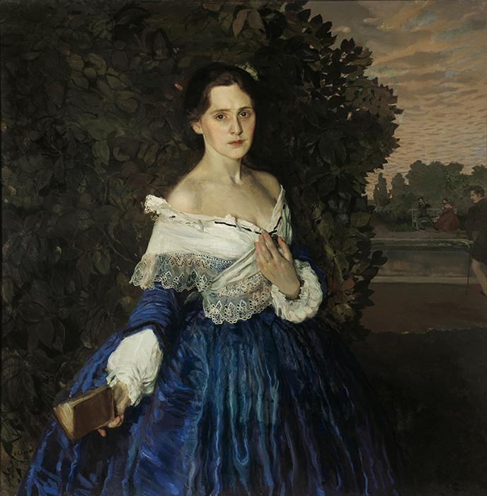 «Дама в голубом» девушки, живопись, история, картины, портреты