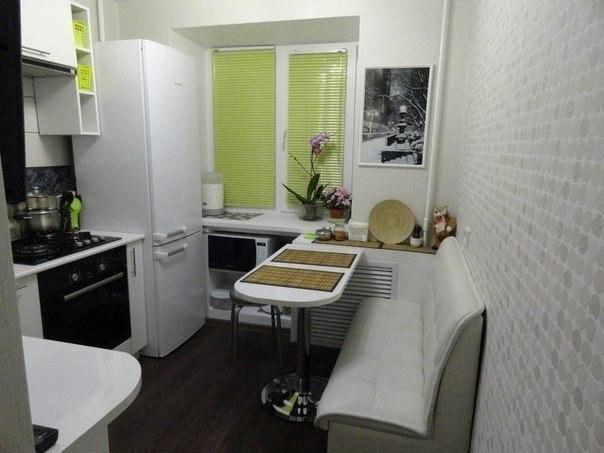 Отличная идея ремонта и дизайна маленькой кухни в 6 кв.м.