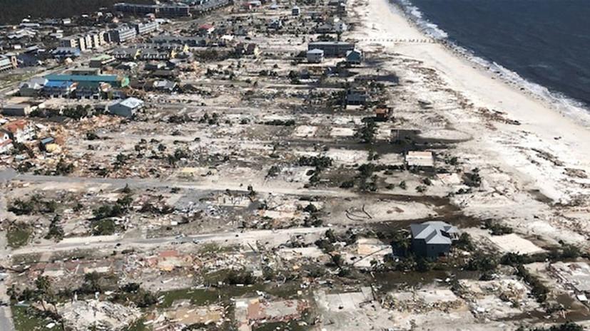 Трамп посетит пострадавшие от урагана «Майкл» штаты