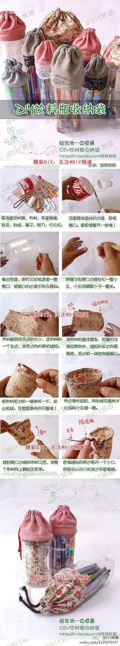 DIY Handmade Bags from repurposed plastic bottles.