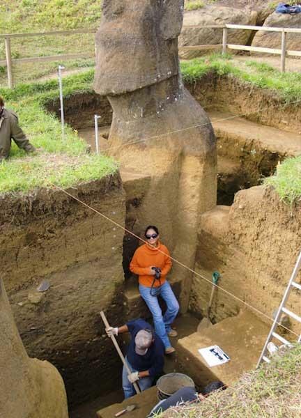 А вы знаете, что скрыто под головами на острове Пасхи? Удивительное открытие!