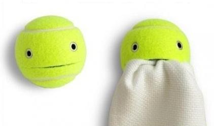 Держатели из теннисных мячиков