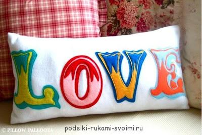 Буквы подушки своими руками для начинающих фото