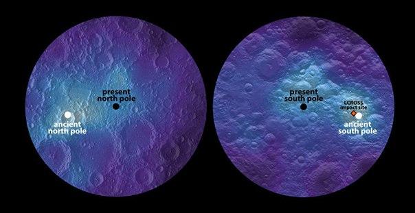 Ученые: Ось вращения Луны сдвигалась в прошлом