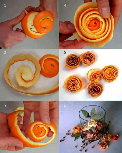 Новогодний мандариновый декор