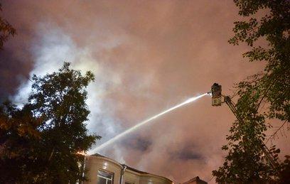 Названа причина пожара в жилом доме на Пятницкой улице