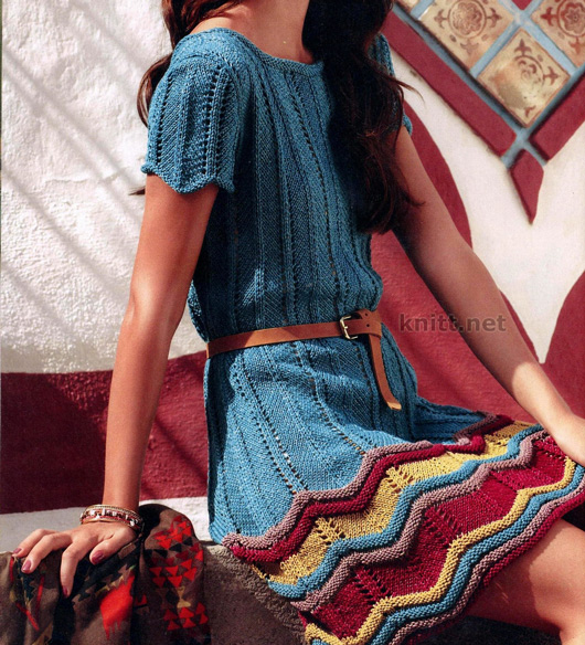 Очаровательное платье с узором в стиле Миссони