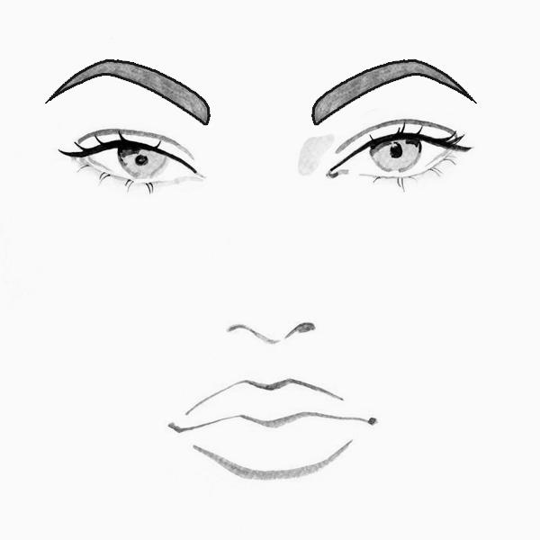 Как рисовать глаза с бровями карандашом