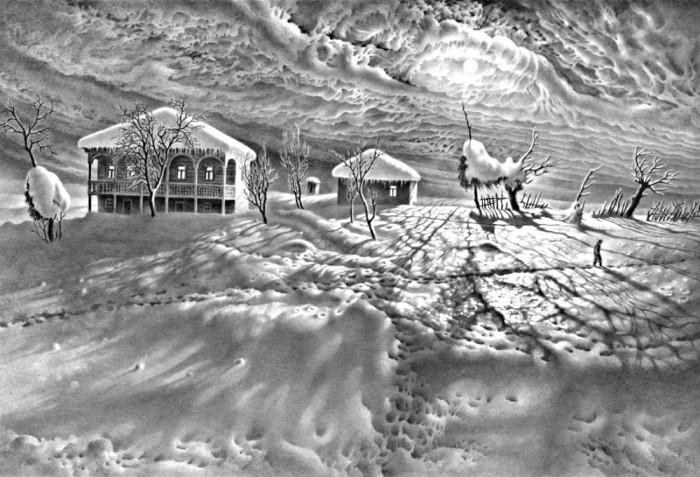 рисунки карандашом Гурам Доленджашвили - 05