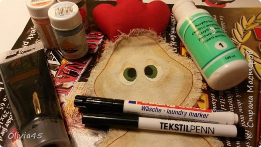 Мастер-класс Поделка изделие Рисование и живопись Шитьё Принцессы курятника  пакетницы небольшой МК Краска Кружево Пуговицы Ткань фото 11