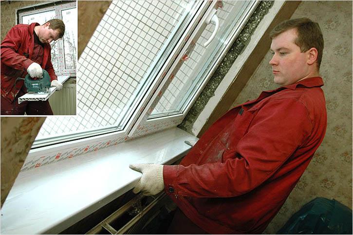 Пластиковый подоконник своими руками фото 896