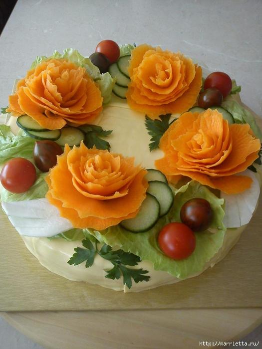 Соленый закусочный торт. Идеи оформления к ПАСХЕ (33) (525x700, 266Kb)
