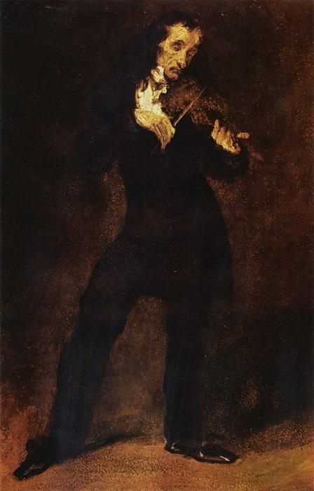 Эжен Делакруа. Портрет Никколо Паганини
