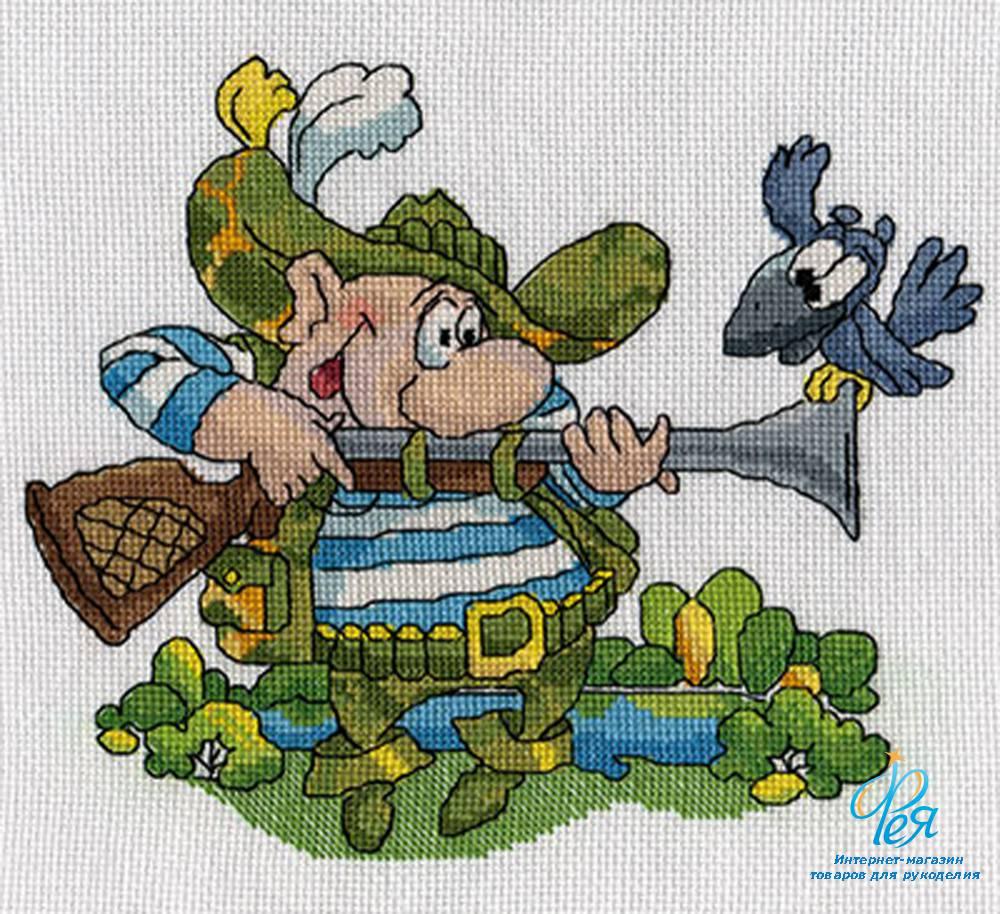 Схему вышивки крестом охота 24