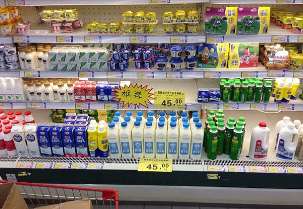 Пастеризованное молоко на прилавках супермаркетов