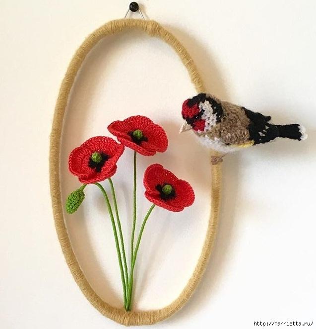 Вязаные птички необыкновенной красоты