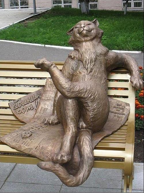 Памятник Йошкину коту. Йошкар-Ола Прикольные памятники, факты