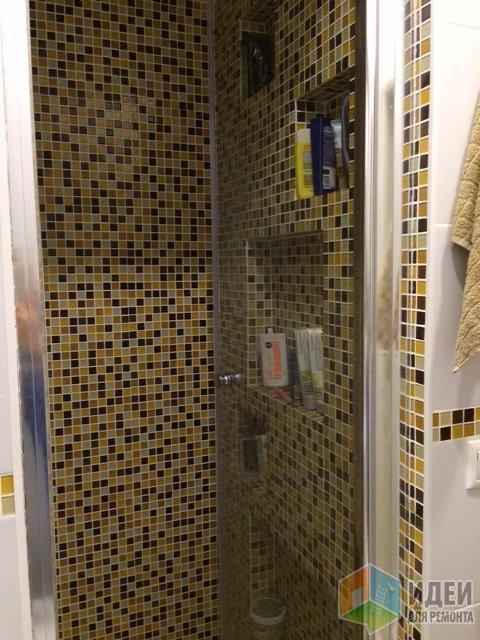 Интерьер ванной комнаты, дизайн ванной, мозаика в ванной