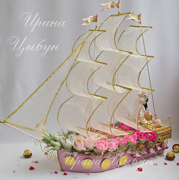 Корабль из конфет своими руками мастер класс