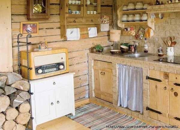 Кухня в деревенском стиле своими руками фото