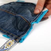 Стильный гамак из старых джинсов. Шаг 8