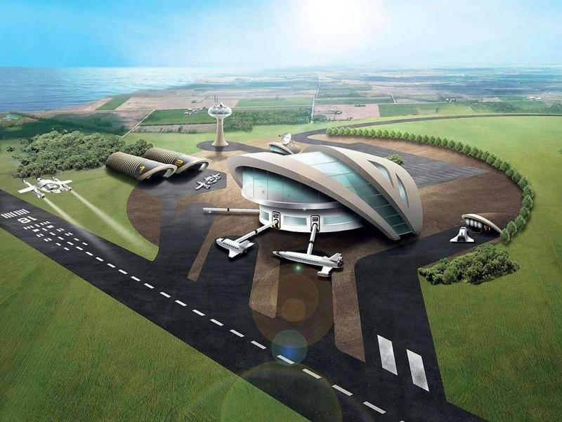 Проект космопорта в Англии интересное, космический туризм, космос