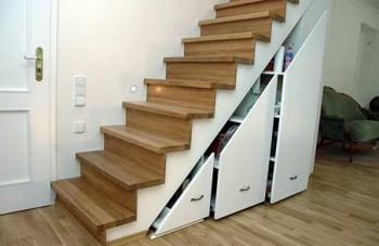 Использование места под лестницей