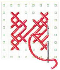 Второй крестик четвертого ряда