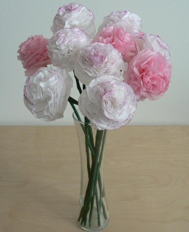 Букет цветов из салфетки своими руками