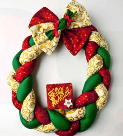Текстильный рождественский венок. Мастер-класс (11) (415x458, 381Kb)