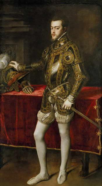 Тициан. Портрет Филиппа II в доспехах