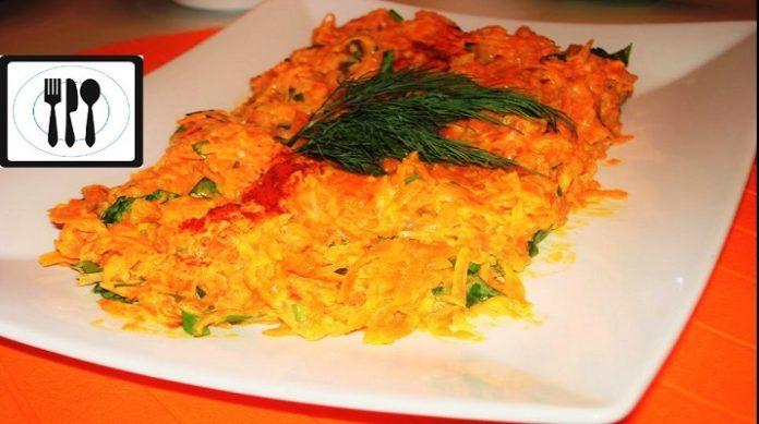 Вкусная морковь с грецкими орехами