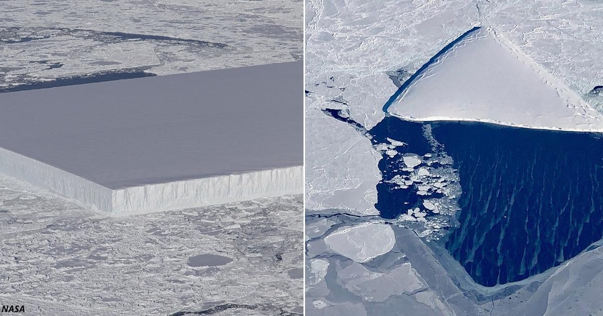 NASA не может объяснить, откуда взялся этот мистический айсберг. Он будто из ада!