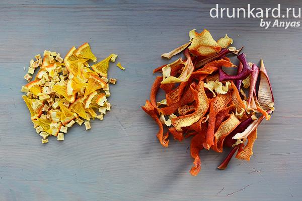 Пряный чай с апельсином и яблоком