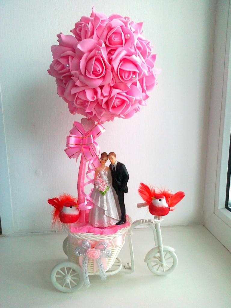Подарок на свадьбу своими руками из цветов 57
