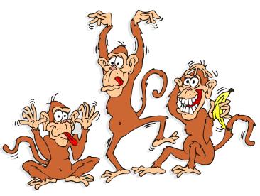Без денег, но зато при обезьянах....