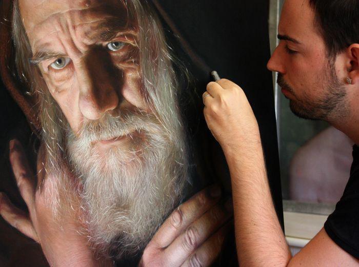 Рубен Беллонсо Адорна и его фотореалистичные портреты пастель, портреты, художник