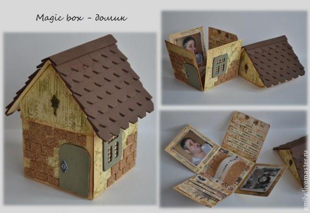 """Подарочная коробочка """"Домик с черепичной крышей"""""""