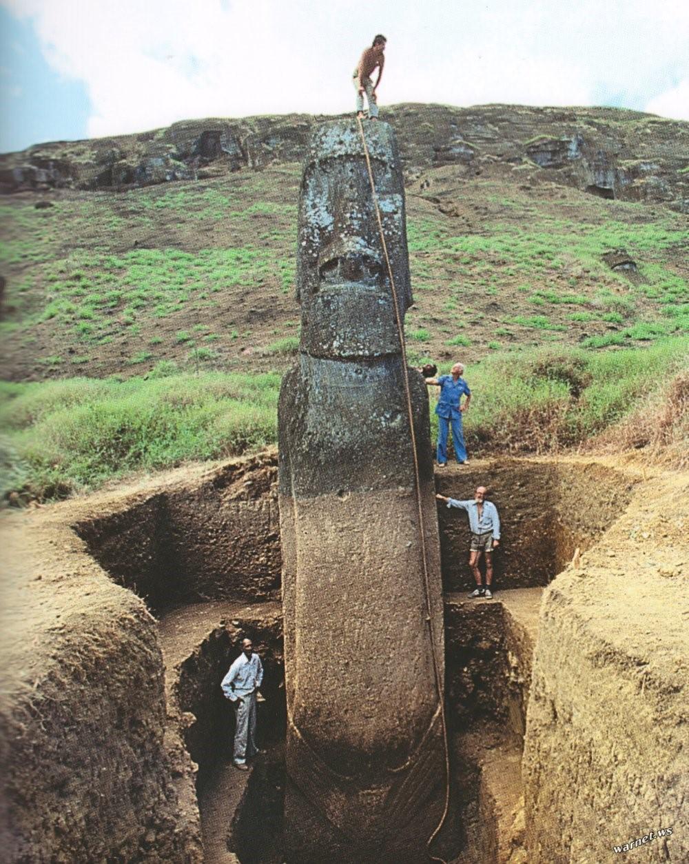 Есть ли у голов на острове Пасхи ноги?