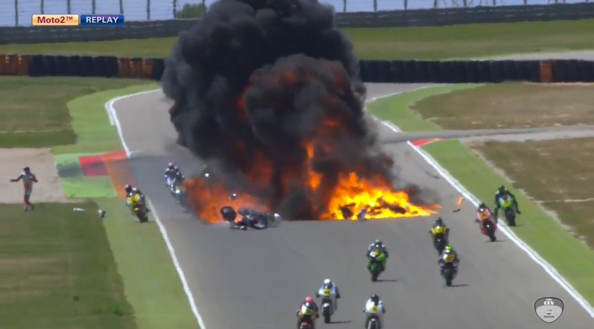 Страшная авария и пожар во в…