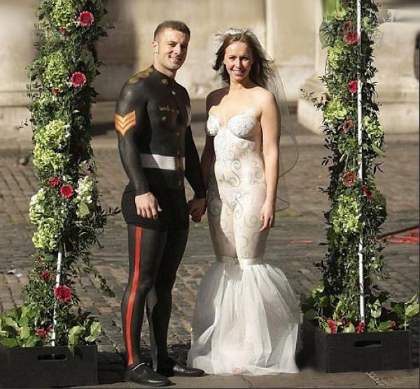 6. Свадебный боди-арт Свадебные платья, свадьба