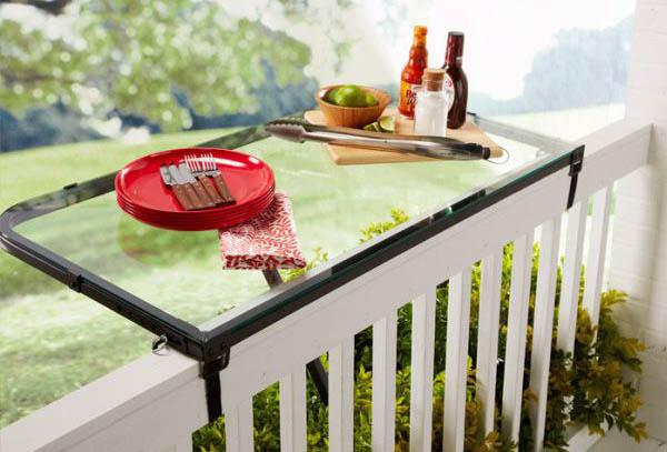 Стеклянный раскладной столик