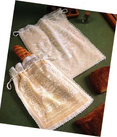 Нарядные мешочки в технике филейного вязания