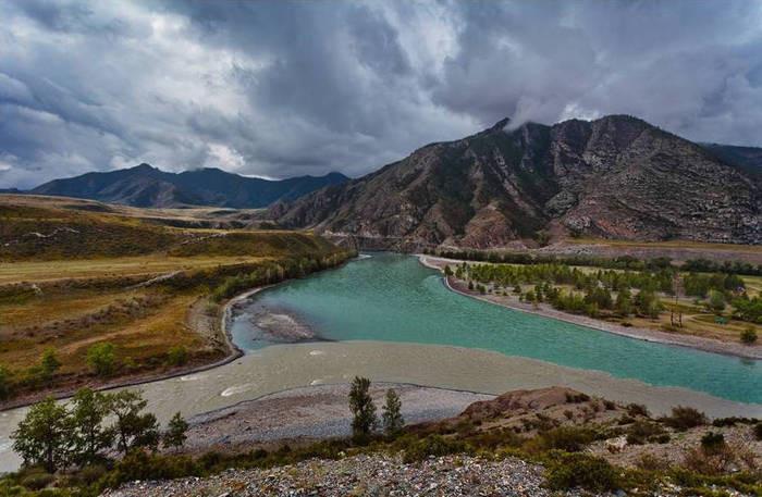 Невероятно красивейшие фото слияния Российских рек