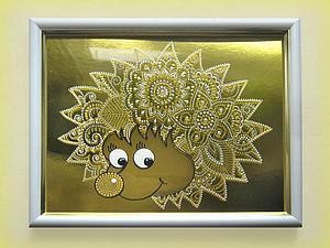 Расписываем стекло «Солнечный ёжик» | Ярмарка Мастеров - ручная работа, handmade