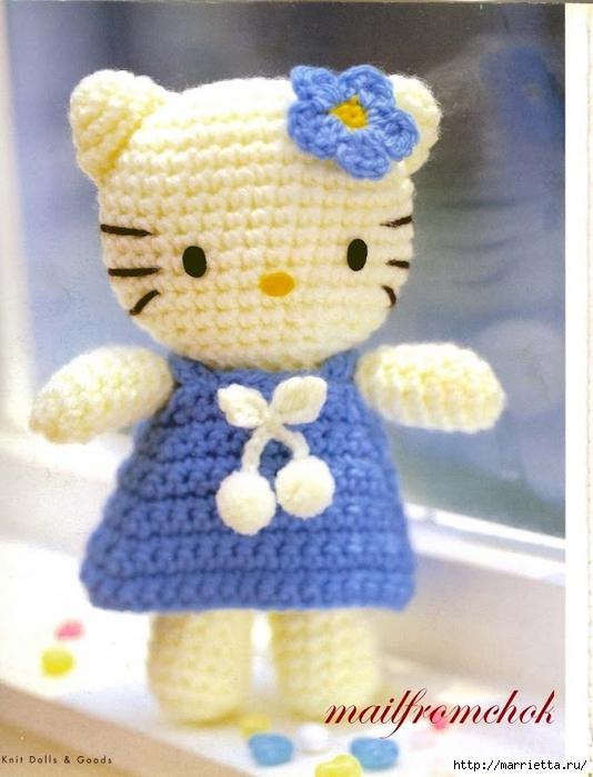 Hello Kitty! Вяжем японскую кошечку. Отличный журнал со схемами (5) (534x700, 245Kb)