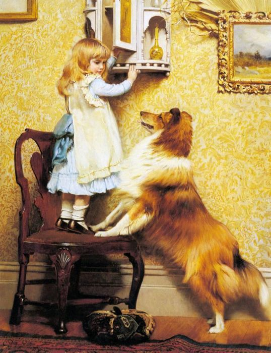 Собаки и дети: Трогательные картины английского художника XIX века, на которых отображена вся палитра собачьих эмоций