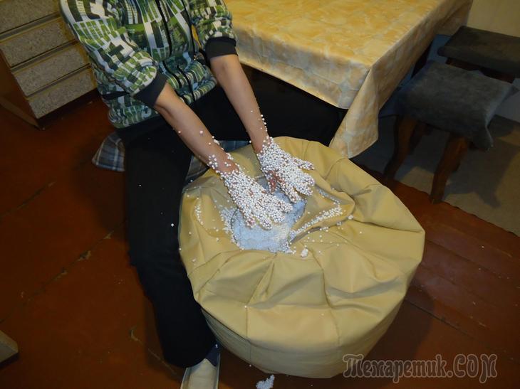 Пуфы-мешки своими руками 58