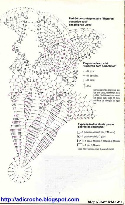 Круглые салфетки крючком. Схемы (5) (425x700, 223Kb)